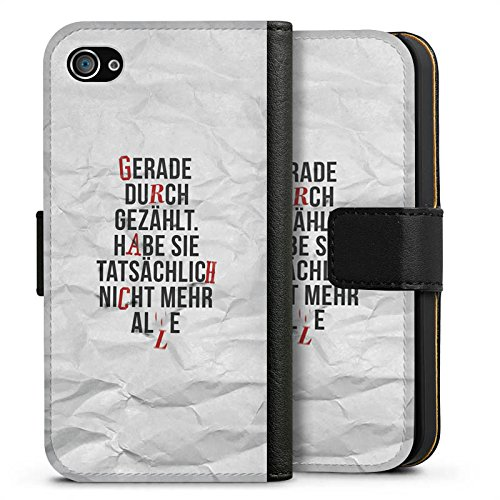 Apple iPhone 8 Silikon Hülle Case Schutzhülle Sprüche Statement Spruch Sideflip Tasche schwarz