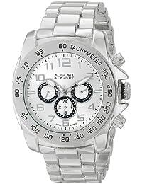 August Steiner Hombre multifunción de cuarzo suizo reloj de pulsera plateada Plateada