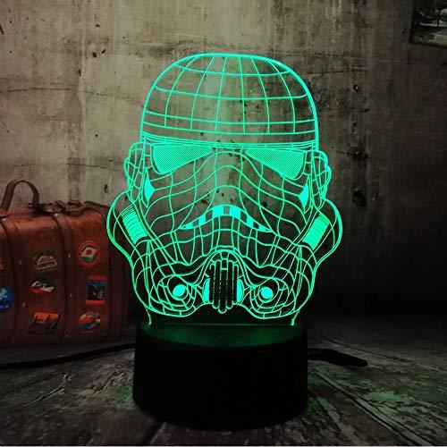 3D RC Spielzeug USB Storm Trooper Weiß Soldat Lampe LED Nachtlicht Touch Remote Home Party Cafe Dekorative Kinder Geschenk Lava