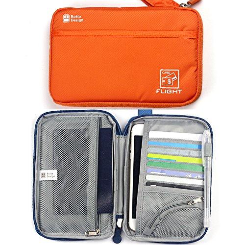Cartera-para-pasaporte-Viaje-tarjeta-titular-billetera-con-cremallera-bolso-organizador-del-sostenedor-Documentos-monedero-de-la-ID-Credit-Card-Cash-Viajes-Bolsa-de-viaje-con-una-pluma-GRATIS