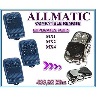 ALLMATIC MX1 / MX2 / MX4 433,92Mhz Kompatibel handsender / KLONE