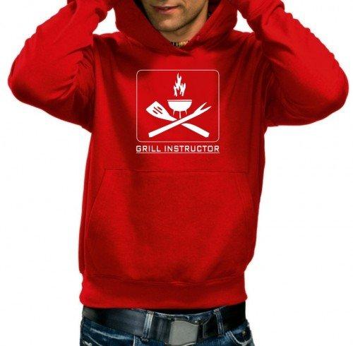 GRILL iNSTRUCTOR sweat-shirt à capuche à capuche xS s m l xL xXL xXXL Rouge Rouge Large