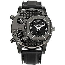 Reloj, rawdah Casual correa de silicona reloj de cuarzo los hombres de grosor gel de sílice estudiantes deportes tiempo movimiento precisos para mantener., 0.09 pounds, color negro