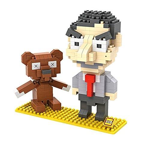 Cygoshop Mr. Bean Model Loz Micro Blocks Baby Initiation Intellectual Games Barrel 340-piece