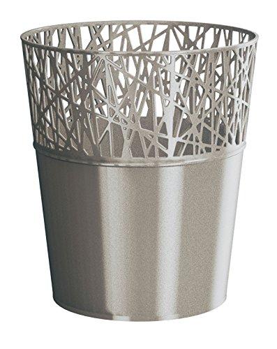 Rond cache-pot 14 cm CITY en plastique romantique style en platine