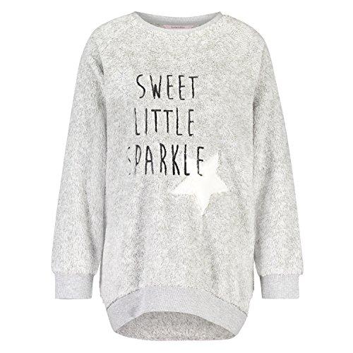 Hunkemöller Damen Sweater Fleece Sparkle 119232 Grau L