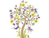 Wandtattoo No.BP26 Feen Garten Fee Elfen Eule Natur Baum Zauber Garten Mädchen