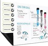 A3 Magnetische Abwischbarer Magnettafel für Kühlschrank – Whiteboard von Plan Smart – BONUS: 3 Qualität Marker