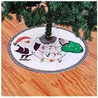 Hermosa decoración navideña Santa Tree Skirt Festival Ornamentos del árbol Decoración Accesorios de Navidad ...