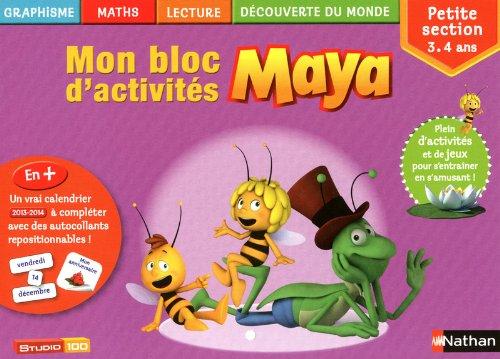 Mon bloc d'activités Maya PS