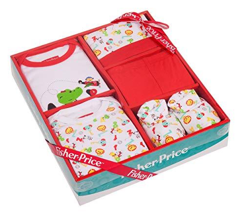 Fisher Price - Juego de 5 piezas de ropa unisex para bebé recién nacido