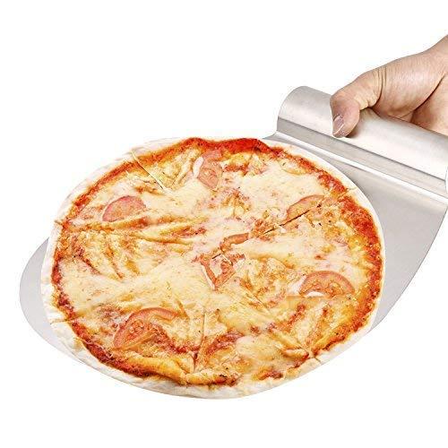 BelleStyle Pala Tartas/Pizzas, 11 Pulgadas Pizza de Acero Inoxidable Pizza Peel Ideal para Pasteles, Pizzas, Tartas