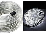 Vetrineinrete Tubo a led luminoso per natale 20 metri luce bianca luci natalizie per esterno con controller 360 led decorazioni natalizie luci per balcone A45