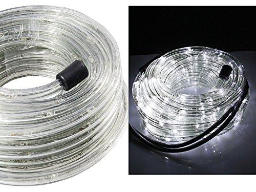 Vetrineinrete® tubo a led luminoso per natale 20 metri luce bianca luci natalizie per esterno con controller 360 led decorazioni natalizie luci per balcone a45