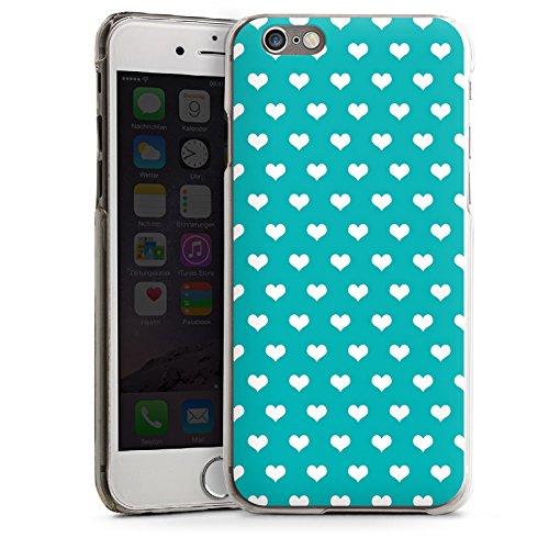 Apple iPhone 5s Housse étui coque protection Petit c½ur Turquoise Motif CasDur transparent
