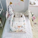 Lettino con trapunta e cuscino per bambini (0–24mesi) - rimovibile e pieghevole