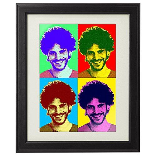 Pop-art-foto (Bild im Pop-Art-Stil - Kunstdruck im Echtholzrahmen - Personalisiert mit Foto - Geschenkidee zum Geburtstag - Weihnachtsgeschenke - Maße: ca. 29 x 39 cm)