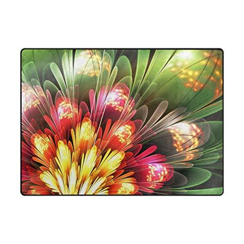 200 cm, rutschfest, modern, bunt, Blumen-Teppich für Wohnzimmer/Baby/Haustierzimmer/Schlafzimmer/Esszimmer/Küche, Textil, Multi, 120x160 cm(5'x4' ft) ()
