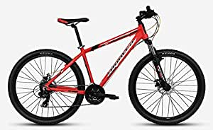 """Montra Rock (2017) 1.0D 27.5"""" 21 Speed Dual Disc Brake Stylish Sporty RED Alloy Bike/Bicycle"""