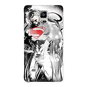 Stylish Steel Power Multicolor Back Case Cover for Galaxy Note 4