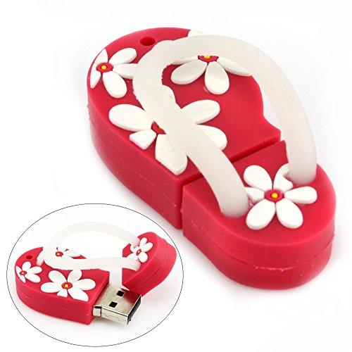 aretop-8go-cle-usb-flash-drive-en-forme-de-plage-sandal-avec-motif-de-fleurs-rouge