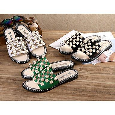 RTRY Donna Sandali Primavera Estate Gladiator Pu Abbigliamento Sportivo Tacco Piatto Imitazione Perla US7.5 / EU38 / UK5.5 / CN38