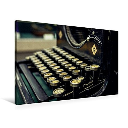 Premium Textil-Leinwand 90 cm x 60 cm quer, Antike Schreibmaschine aus Gusseisen | Wandbild, Bild auf Keilrahmen, Fertigbild auf echter Leinwand, ... Bild alter Bürotechnik (CALVENDO Hobbys)