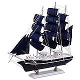 DierCosy Segelboot-Modell Naturgetreue Segelschiff Holz-Handwerk Tabletop Ornament Corsair Dekoration