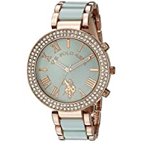 U.S. Polo Assn. Women's Green Dial Alloy Band Watch - USC40083