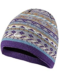 Sealskinz Meadow Beanie Grey/Purple