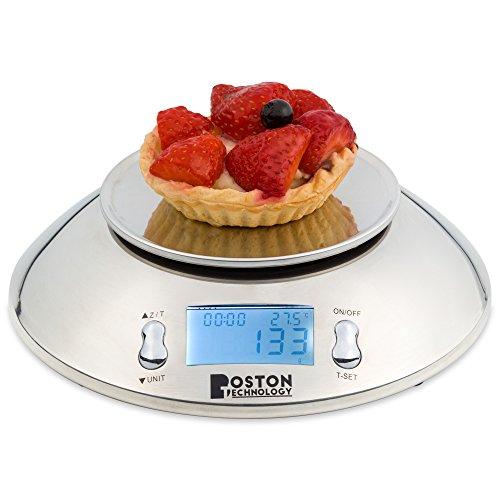 confronta il prezzo Boston Tecnology HK-101 - bilancia da cucina digitale con timer, la funzione TARA e sensore di temperatura. Bol Incluso. miglior prezzo