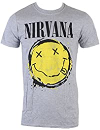 Live Nation Tee-Shirt Mã©Tal pour Hommes Nirvana - Smiley Splat PENIR0680