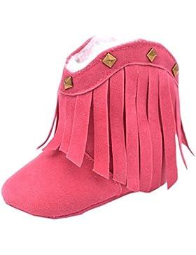 Fire Frog  Baby Cowgirl Boots, Baby Mädchen Krabbelschuhe & Puschen, rot - rose - Größe: 6-12 Monate