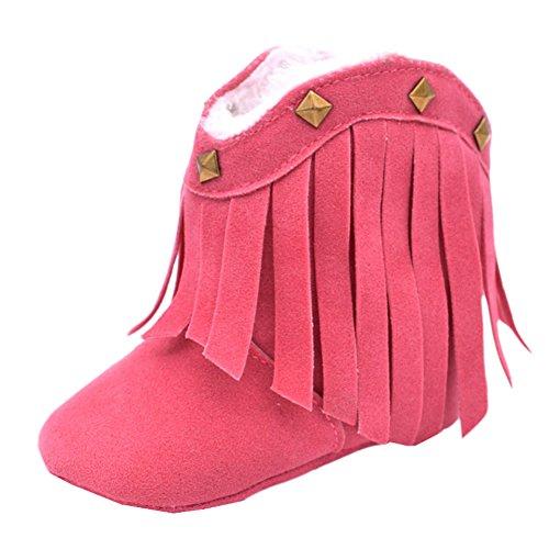 Fire Frog  Baby Cowgirl Boots, Baby Mädchen Krabbelschuhe & Puschen, rot - rose - Größe: 12-18 - Cowgirl-stiefel Größe 13 Mädchen