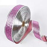 200X5CM Belles Rubans Paillettes métalliques pour le bricolage artisanat couture Tissu Party Fournitures de mariage de Noël Papier cadeau