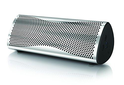 KEF MUO - Bester Bluetooth Lautsprecher -  Metal |  Tragbarer Lautsprecher für unterwegs  | Außenlautsprecher | Best bluetooth speaker für PC und Laptop | mit langer Batterie und Akkulaufzeit