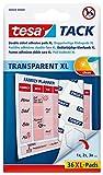 tesa Tack doppelseitige Klebepads XL, transparent, 36 Pads