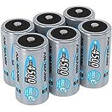 ANSMANN Akku Batterien Baby C 4500mAh 1,2V - Aufladbare Batterien C NiMH mit maxE & ohne Memory Effekt - Baby C Akkus ideal für Spielzeug Taschenlampe Radio Werkzeug Lampe Modellbau uvm - 6 Stück