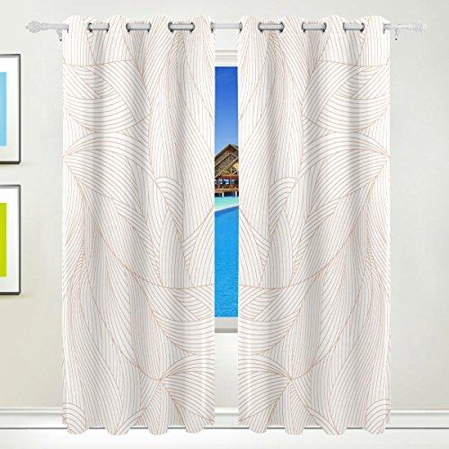 Okone pannelli tende oscuranti blackout grommet divisorio per patio finestra porta scorrevole in vetro con pannelli line shading pattern (139,7x 213,4cm,2)