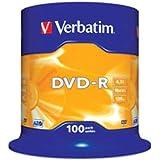 VERBATIM DVD-R 16x 4.7GB TARRINA 100 Unds 43549 (4)