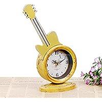 kinine Mute chitarra creativo unico clock vintage artigianato decorazioni per la casa ornamenti in metallo mobili in ferro