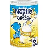 Nestlé - P'TITE CEREALE - Céréales en poudre, goût vanille, dès 6 mois - La boîte de 400g - (pour la quantité...