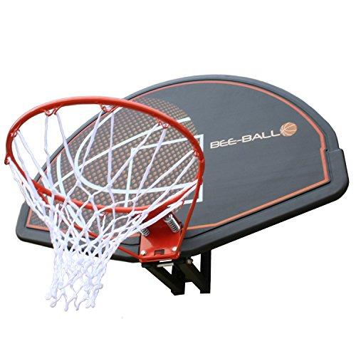 Big Game Hunters BEE-BALL ZY-015 Basketballkorb, mit Rückenplatte und Netz, für den Außenbereich, für Erwachsene und Kinder