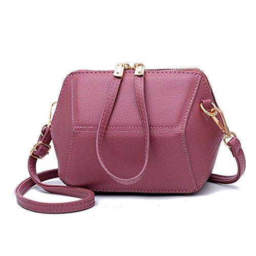 Neu Persönlichkeit Mini Muschel Geometrische Tasche Mädchen Holding Tasche Messenger Schultertasche Handy Geldbörse Pink
