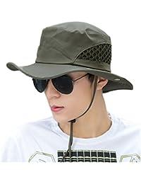 Wanderhut Angelhut Safarihut Anglerhut Sonnenhut mit Krempe und UV Schutz 50