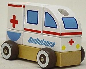 Allkindathings - Rollo de Madera para niños con Formas de Ambulancia