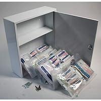 Erste Hilfe - Arzneischrank Metall mit kleiner Füllung nach DIN13157 Betriebsverbandskasten preisvergleich bei billige-tabletten.eu