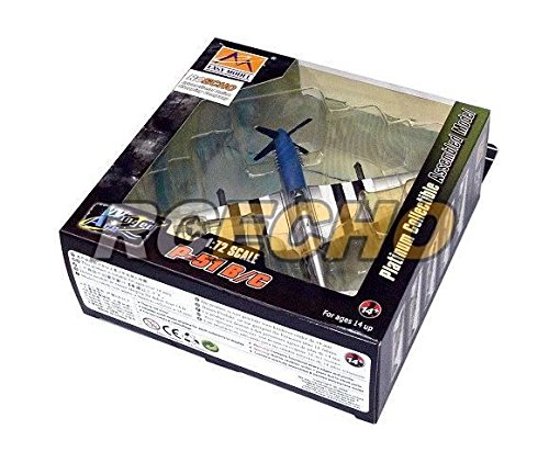 RCECHO® Easy Model Aircraft Model 1/72 P-51B/C Patty ann II (Finished) 36355 E6355 with 174; Full Version Apps Edition Patty Mold