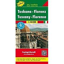 Toskana - Florenz, Autokarte 1:150.000, freytag & berndt Auto + Freizeitkarten Top 10 Tips