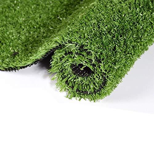 YUER Kunstrasenteppich, Upgrade Verschlüsselung Verdickung, gefälschte Rasenteppich, Balkon Dekoration grün Kunststoff Rasen Kindergarten Fußballplatz, Kunstrasen (Farbe : A 1.5cm, größe : 2mx2m)